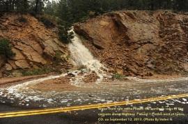 Major flooding near Lyons, Co.