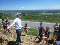 Looking at landslide features in the Dakota Formation