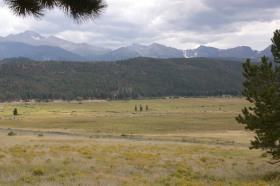 Lateral Moraine (forested ridge) in Rocky Mountain National  Park
